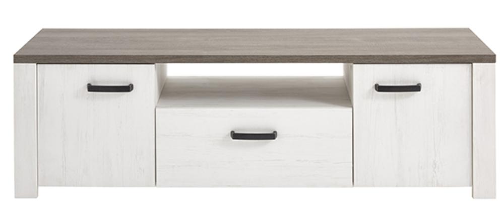 meuble tv marquis gris lasur blanc. Black Bedroom Furniture Sets. Home Design Ideas