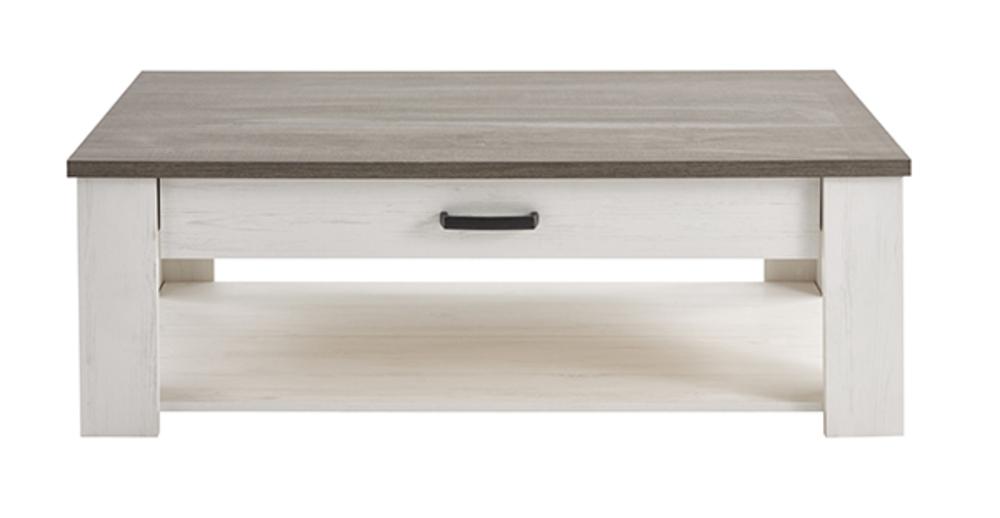 Table basse marquis gris lasur blanc - Table basse ouvrable ...
