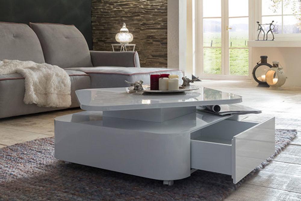 table basse leonie 08 blanc brillant. Black Bedroom Furniture Sets. Home Design Ideas
