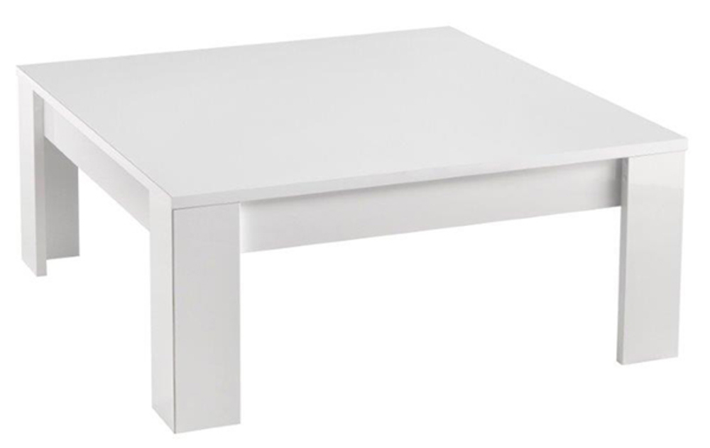 Table Basse Modena Laquee Blancl 100 X H 42 X P 100