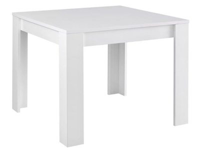 Meubles tables repas for Table blanche carree