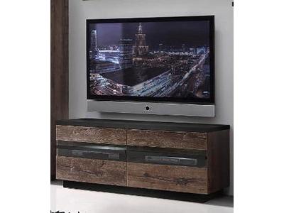 Vestiaire foxi blanc noir for Basika meuble tv