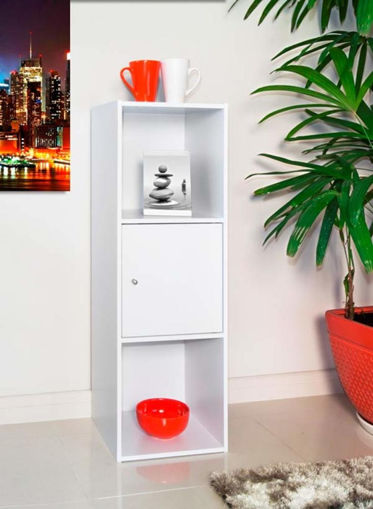 etag re 3 cases optima blanc. Black Bedroom Furniture Sets. Home Design Ideas