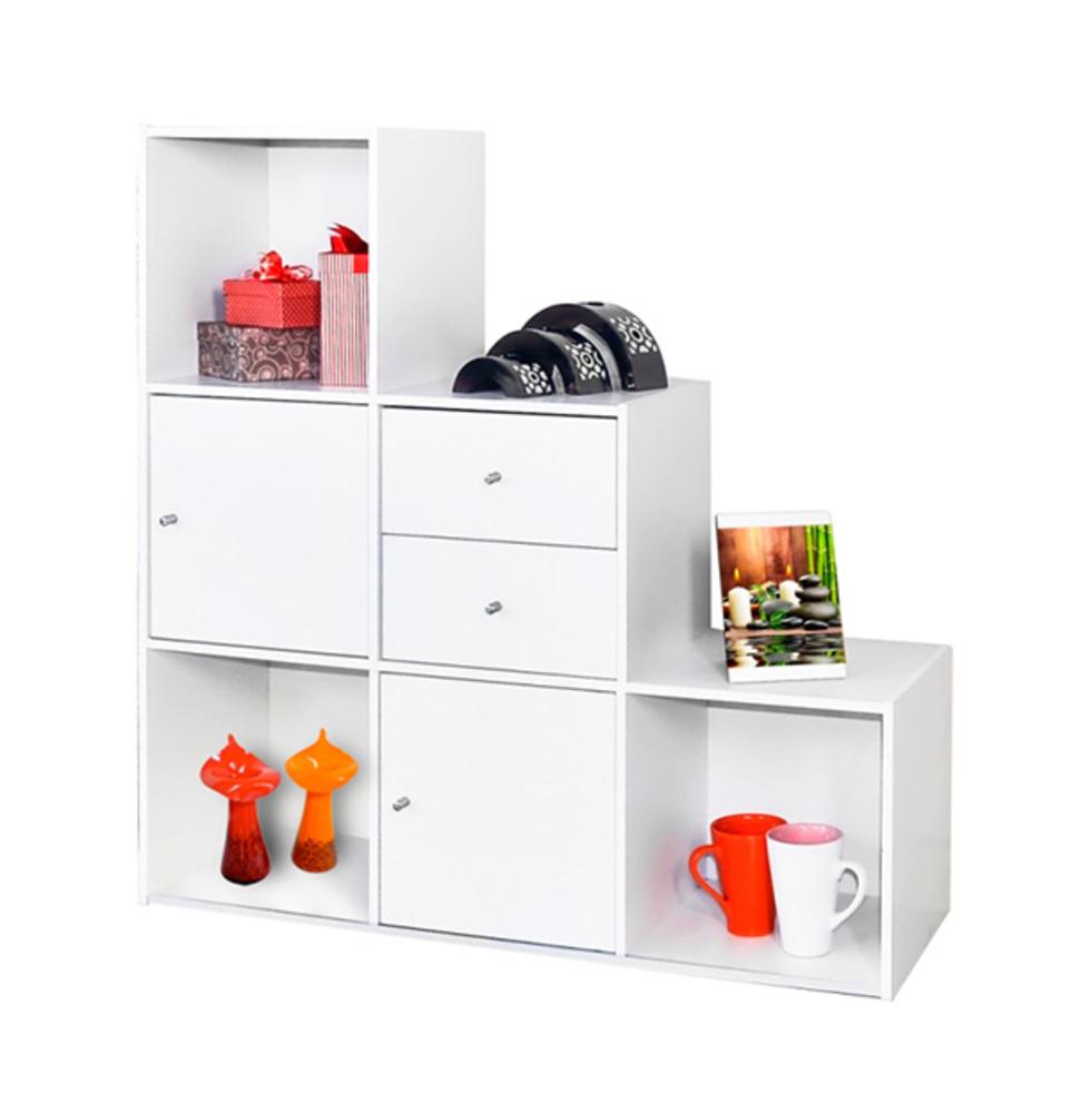 etag re 7 cases optima blanc. Black Bedroom Furniture Sets. Home Design Ideas
