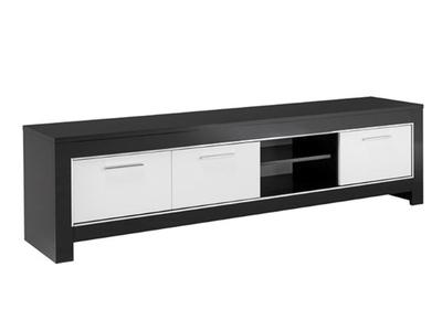 Meuble tv gm Modena laquée noire/blanc