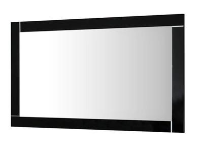 Miroir Modena laquée noire/blanc