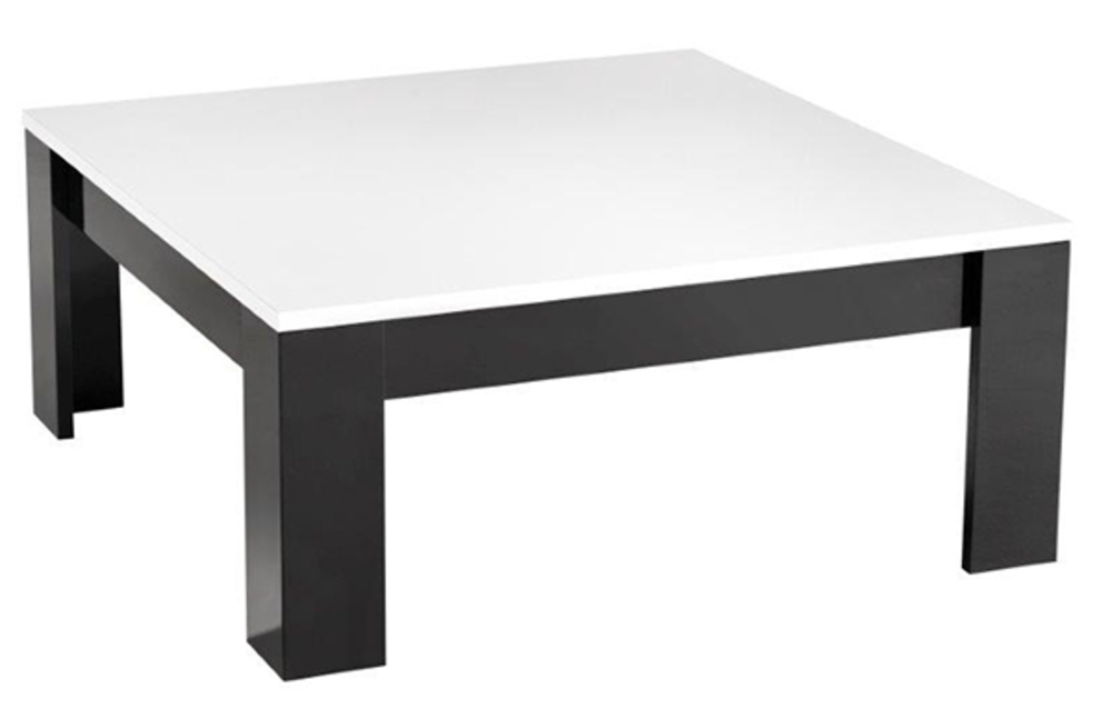 table basse modena laqu e noire blanc noir blanc l 100 x h 42 x p 100. Black Bedroom Furniture Sets. Home Design Ideas