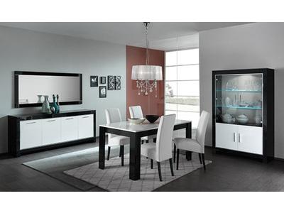 Table basse Modena laquée noire/blanc