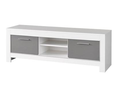 Meuble tv Modena laquée blanc/grise