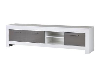 Meuble tv gm Modena laquée blanc/grise