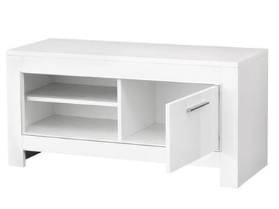 Meuble tv pm Modena laquée blanc/grise