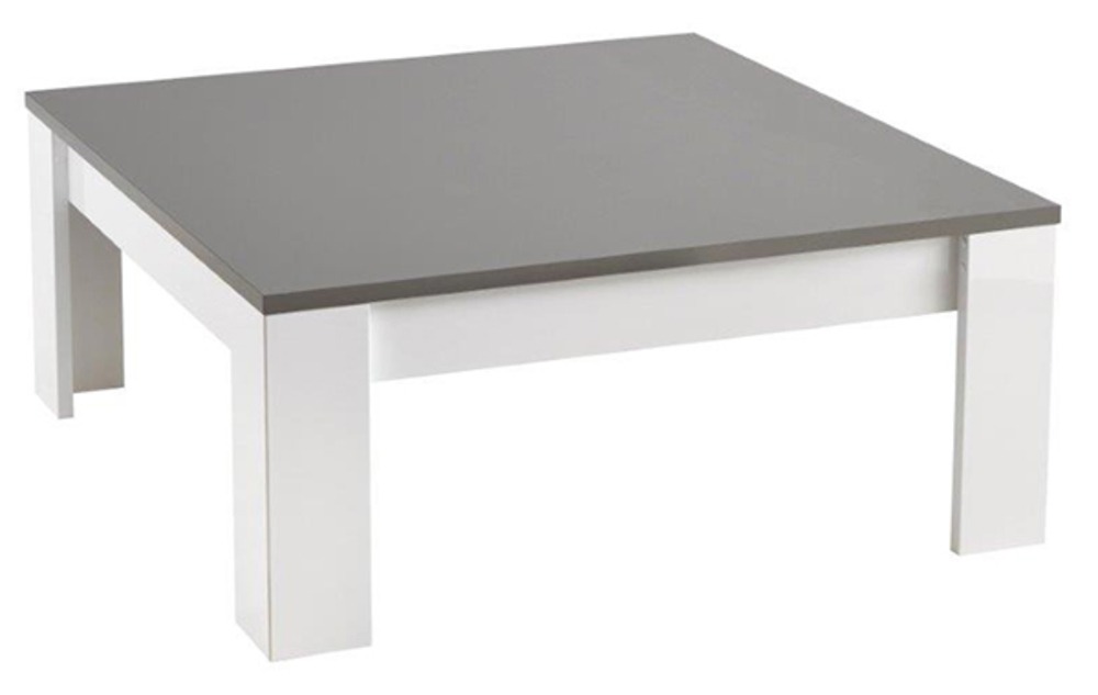 table basse modena laqu e blanc grisel 100 x h 42 x p 100. Black Bedroom Furniture Sets. Home Design Ideas