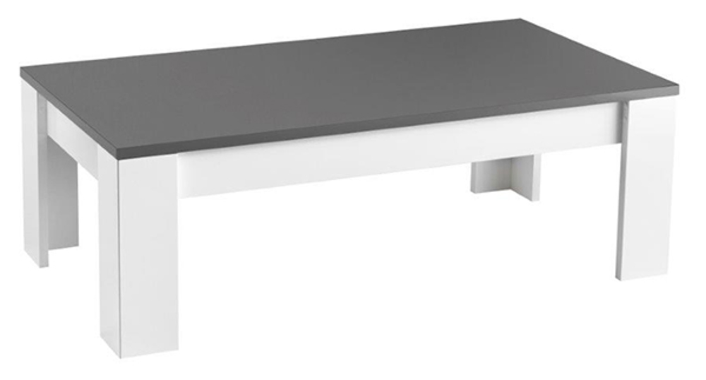 Table basse modena laqu e blanc grisel 126 x h 42 x p 67 - Table basse grise laquee ...