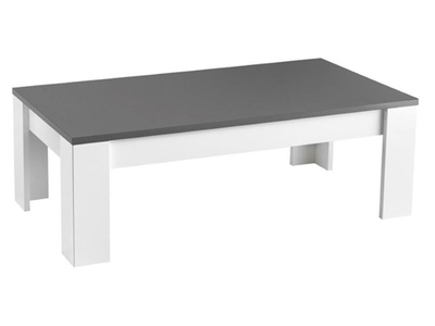 Achat vente table basse table de salon - Table grise et blanche ...