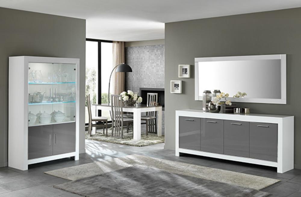 Table de repas Modena laquée blanc/griseL 100 X H 77 X P 100