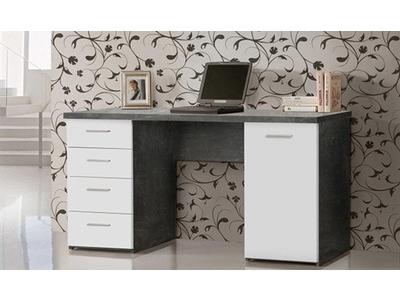 Bureau 1 porte 4 tiroirs
