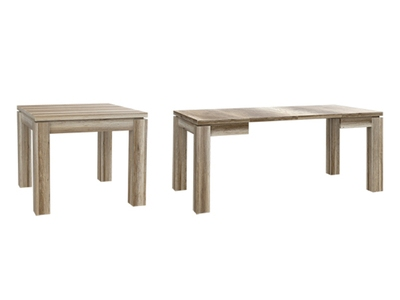 Table De Repas Carree Extensible Dany 3 Chene Gris