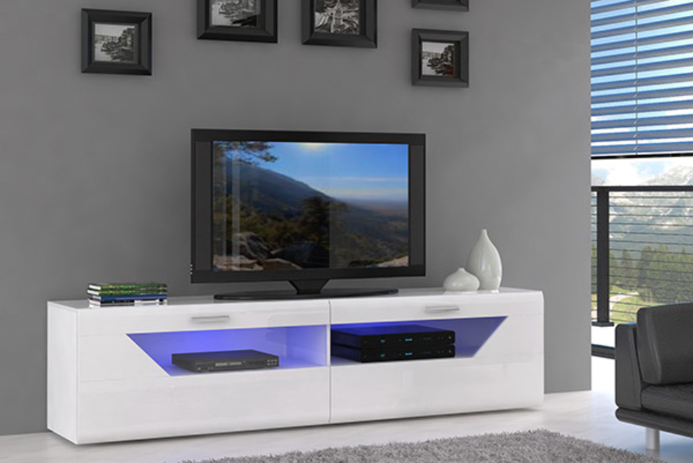 Meuble Tv Saphir Blanc Brillant