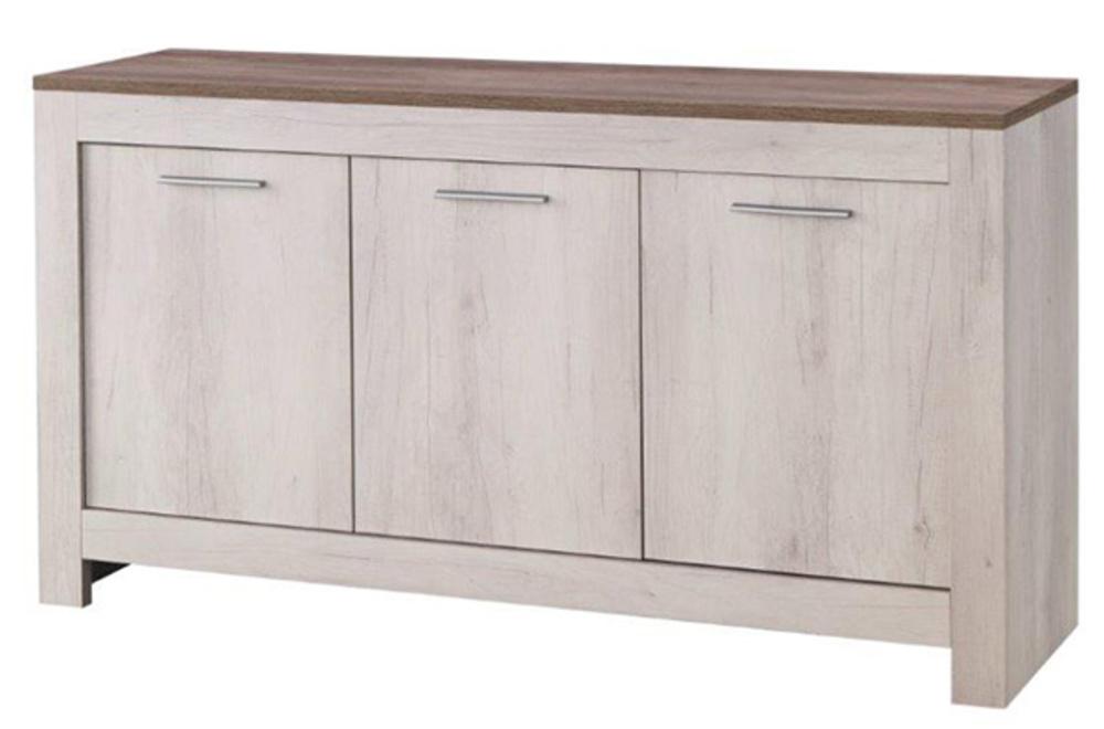 bahut 3 portes padova chene blanchi chene brun. Black Bedroom Furniture Sets. Home Design Ideas