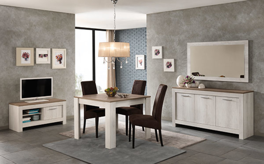 meuble tv pm padova chene blanchi chene brun. Black Bedroom Furniture Sets. Home Design Ideas