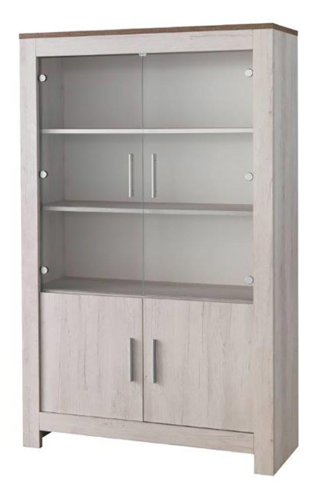 vitrine 2 portes padova chene blanchi chene brun. Black Bedroom Furniture Sets. Home Design Ideas