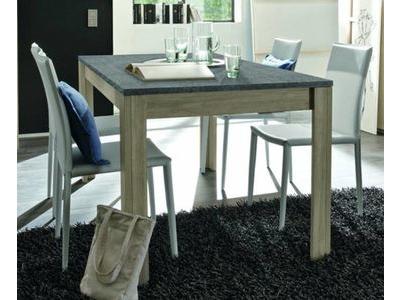 Table de repas avec plateau en ardoise