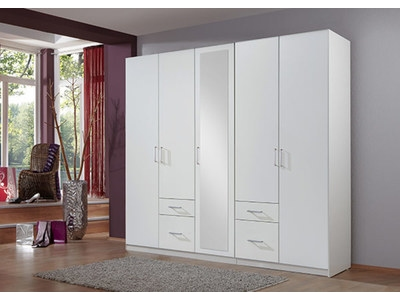 armoire 5 portes 4 tiroirs fly chene lave. Black Bedroom Furniture Sets. Home Design Ideas