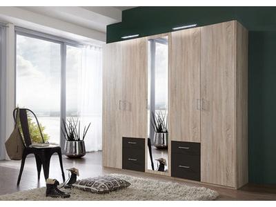 Armoire 5 portes 4 tiroirs