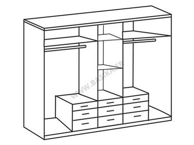 Armoire 5 portes 9 tiroirs Click 2