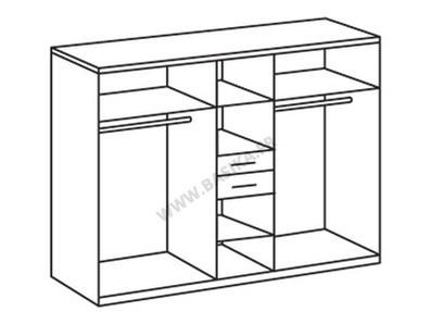 Armoire 6 portes 2 tiroirs Diver