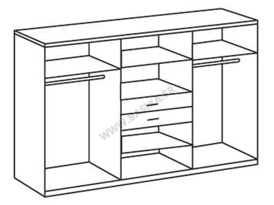 Armoire 8 portes 2 tiroirs Diver