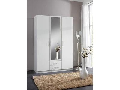 Armoire 3 portes dont 1 miroir 2 tiroirs