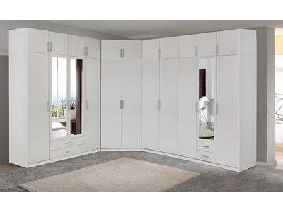 Armoire 4 portes dont 2 miroirs 2 tiroirs Spectral