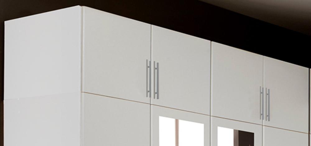 Surmeuble pour armoire 4 portes spectral blanc for Surmeuble armoire chambre