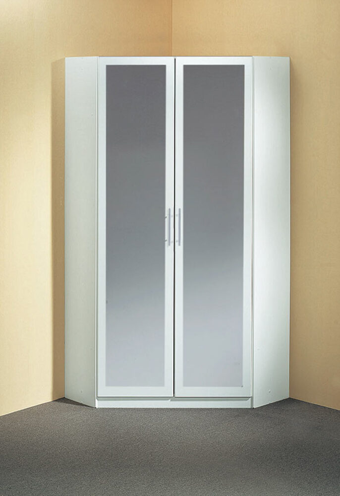 armoire d 39 angle 2 portes miroir spectral. Black Bedroom Furniture Sets. Home Design Ideas