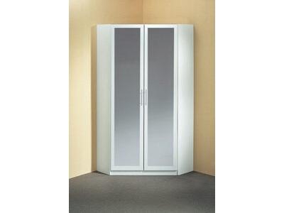 Armoire d'angle 2 portes miroir