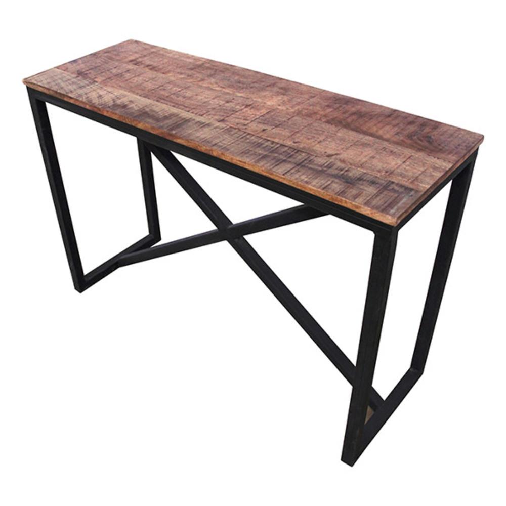 console factory bois vieilli. Black Bedroom Furniture Sets. Home Design Ideas