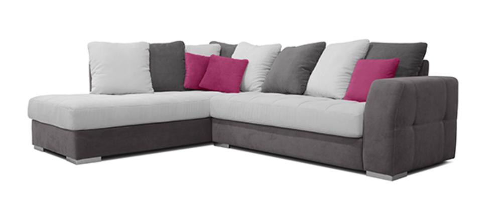 canapé d'angle fushia