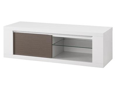 Meuble tv Venezia laquee blanc/grise