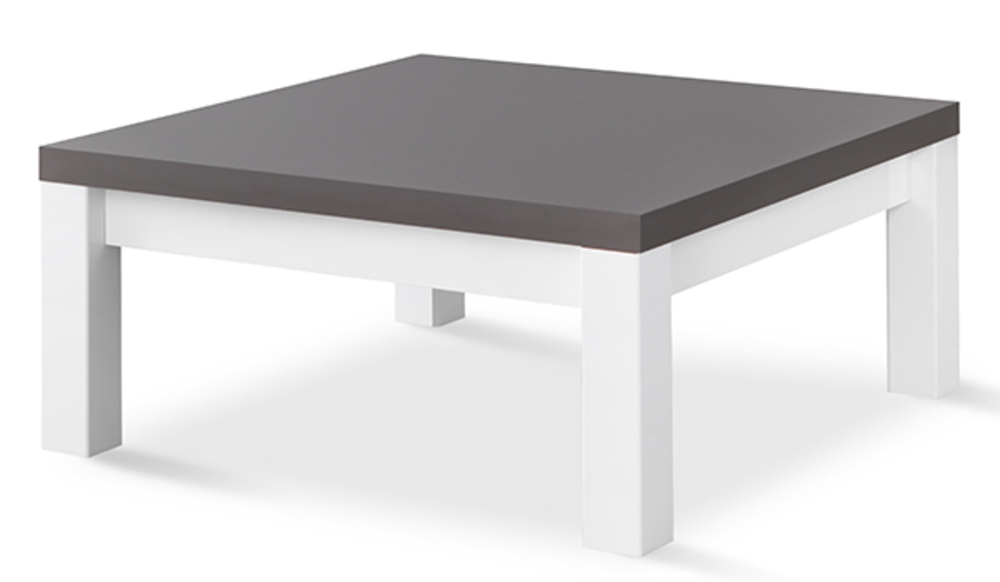 Table basse venezia laqu e blanc grise blanc gris brillant for Table basse design 100 x 100