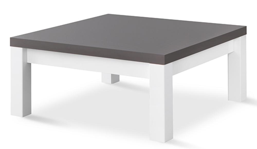 Table basse venezia laqu e blanc grise blanc gris brillant l 100 x h 44 x p 100 - Table basse grise laquee ...