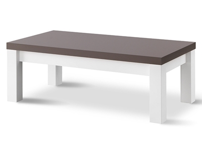 Table basse roma laqu blanc - Table basse grise laquee ...
