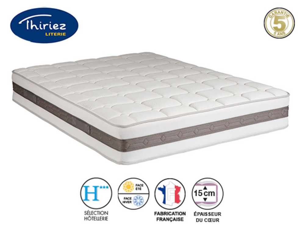 matelas mousse alveo f erique thiriez l 140 x h 21 x p 190. Black Bedroom Furniture Sets. Home Design Ideas