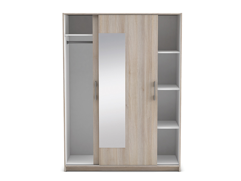 Armoire 2 portes cadix acacia for Penderie avec porte coulissante