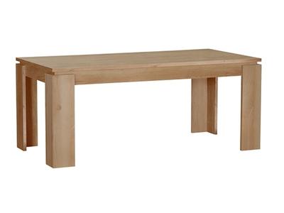 Table de repas Norden chene/blanc mat