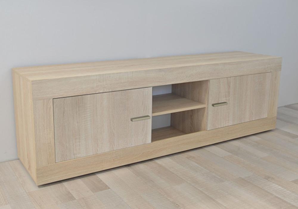 Meuble tv gm aura chene samoa for Basika meuble tv