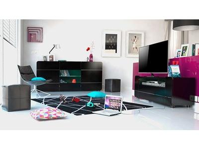 Meuble tv Bump laque noir