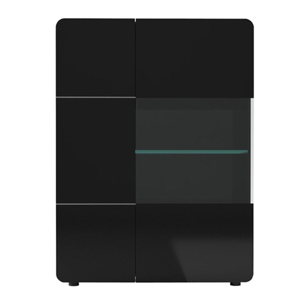 Rangement 2 portes bump laque noir noir brillant