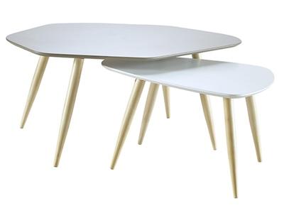 Lot de 2 tables basses Organic