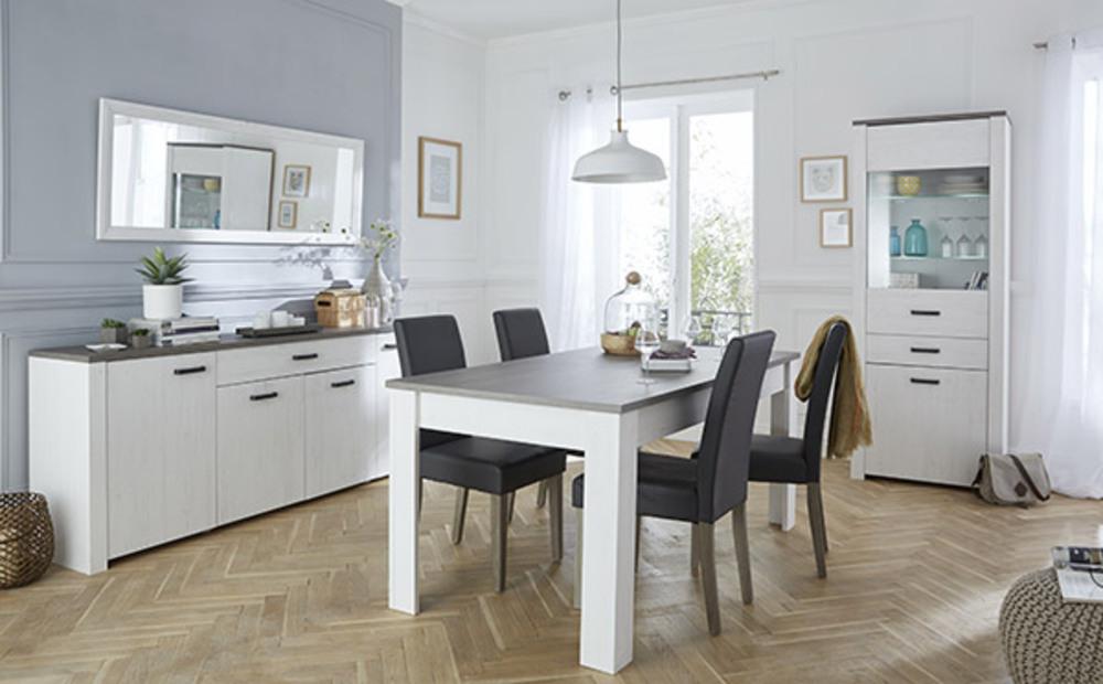 Chaise rotin marquis lasur blanc rotin miel - Photo de salle a manger ...